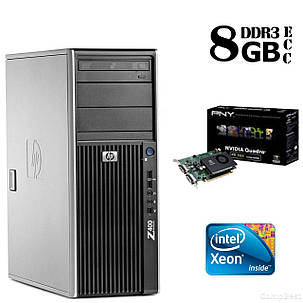 Сервер HP Z400 Tower / Intel® Xeon® W3503 (2 ядра по 2,4 GHz) / 8GB DDR3/ 500 GB HDD / NVIDIA Quadro FX 380, фото 2