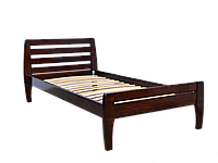 Кровать из дерева полуторная Вика 90*200 ольха массив