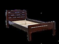 Кровать полуторная Вика 90*200 ольха массив