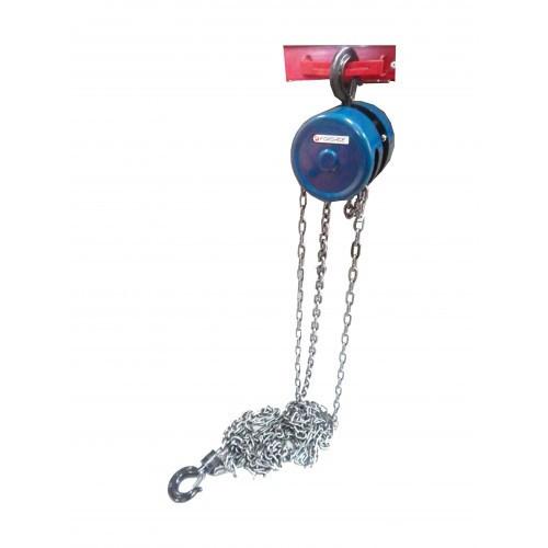 Лебедка механическая с фиксацией цепи натягивания, 1т (длина цепи - 2,5м)