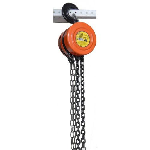 Лебедка механическая подвесная с фиксацией цепи натяжения, 2т (длина цепи - 3м)