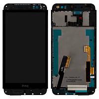 Дисплей HTC One E8 Dual Sim черный (LCD экран, тачскрин, стекло рамка с передней панелью в сборе), Дисплей HTC One E8 Dual Sim чорний (LCD екран,