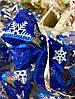 Новогоднее Украшение для Елки Аксессуар Бантики Вышиванка Парча Упаковка 20 шт Цвета в Ассортименте, фото 4