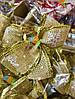 Новогоднее Украшение для Елки Аксессуар Бантики Вышиванка Парча Упаковка 20 шт Цвета в Ассортименте, фото 5