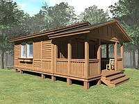 Деревянный летний домик