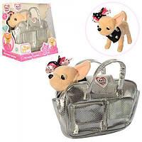 Интерактивная собачка Кикки M 3483 с модной сумочкой: 22см, звук