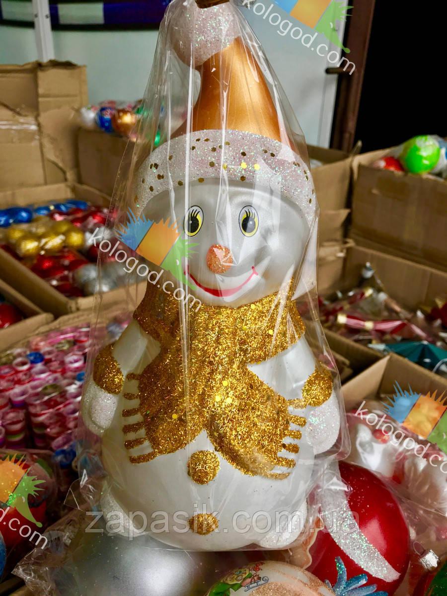 Новогодняя Интерьерная Игрушка под Елку Снеговик Винтаж 35 см