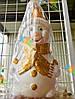 Новогодняя Интерьерная Игрушка под Елку Снеговик Винтаж 35 см, фото 2