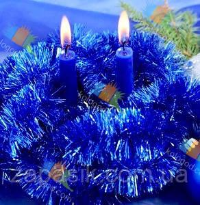 Новогодняя Мишура Дождик Гирлянда Цвета в Ассортименте 3 м диаметр 5 см