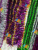 Новогодняя Мишура Дождик Гирлянда Цвета в Ассортименте 3 м диаметр 5 см, фото 4