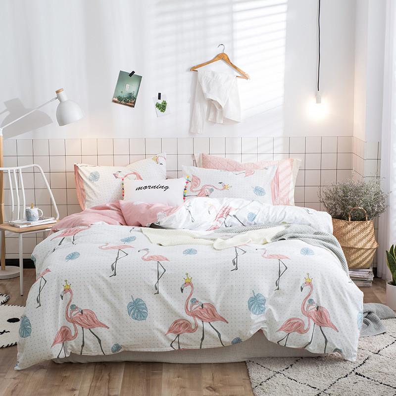 Комплект постельного белья Королевский фламинго (двуспальный-евро) Berni Home