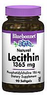 Натуральный Лецитин 1365мг, Bluebonnet Nutrition, 90 желатиновых капсул