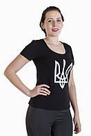 Патриотическая женская футболка Герб, фото 1