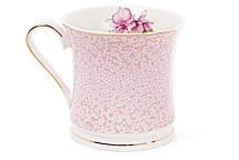Кружка фарфоровая 375мл Ирис цвет - розовый с золотом (331-720), фото 2