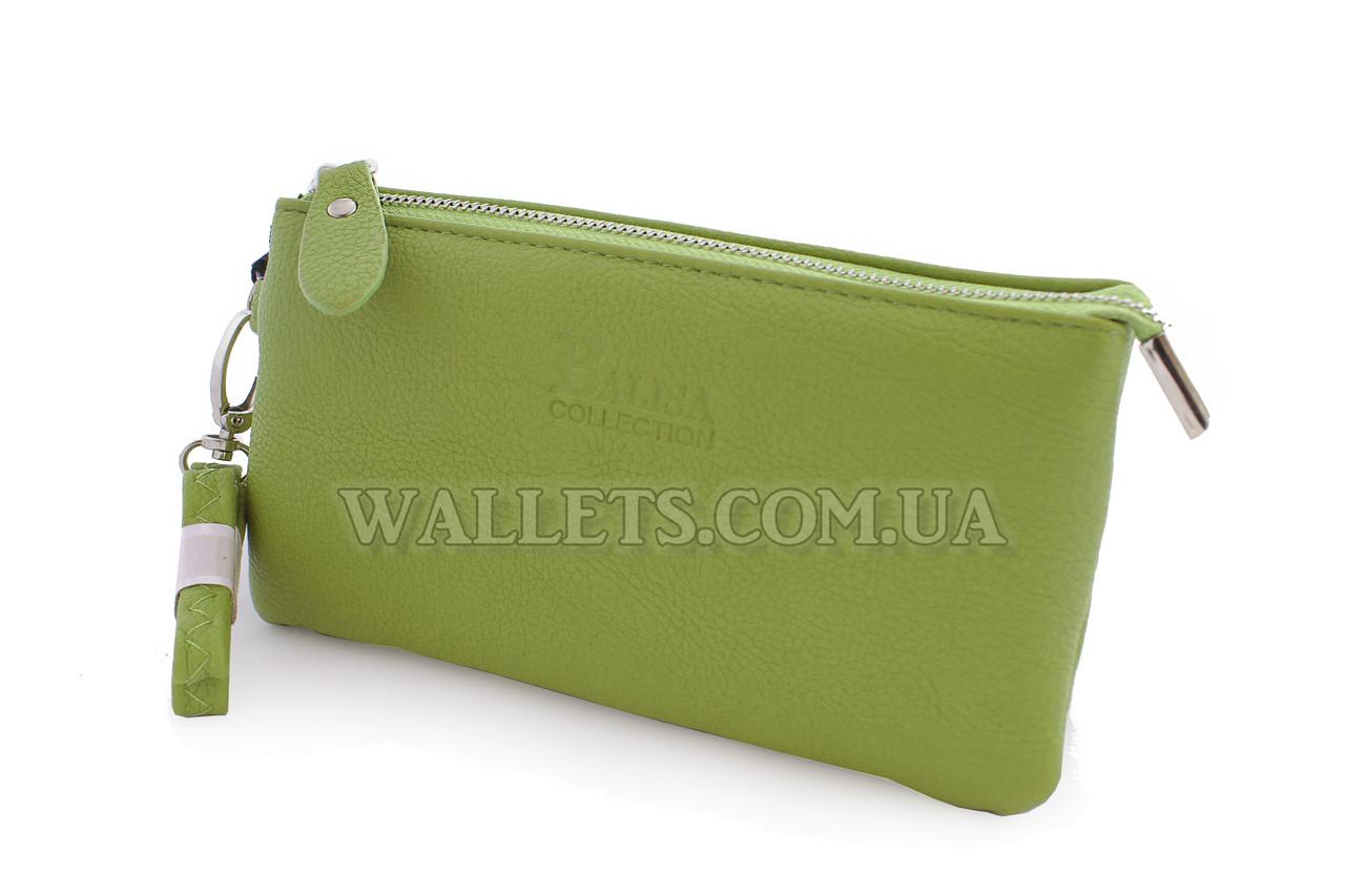 Жіночий гаманець BALISA жовто-зелений на блискавці