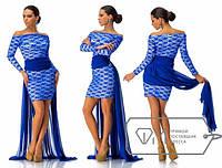 """Стильное платье мини """" Гипюр и хвост шифон """" Dress Code"""