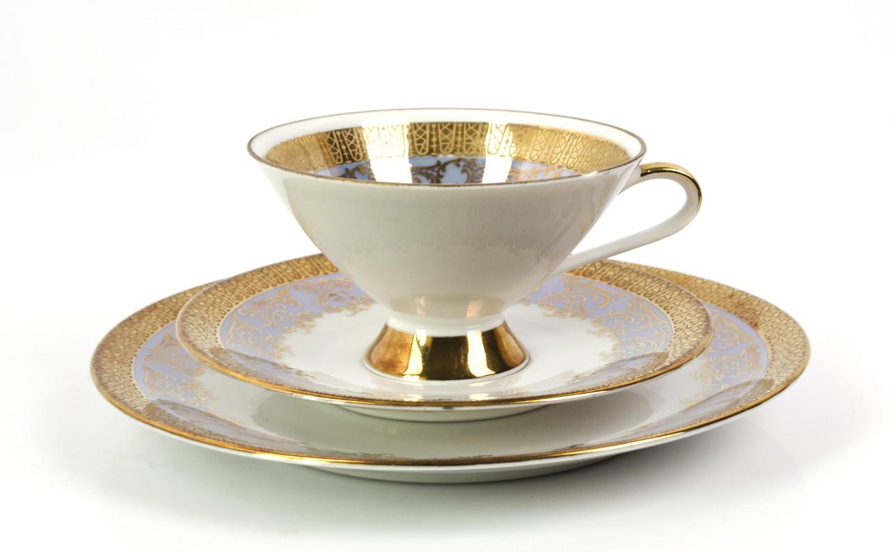 Чашка, блюдце, тарелка, фарфор, Германия, J.Kronester, 60-е