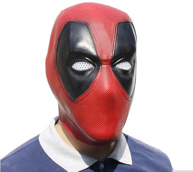 Резиновая маска Дэдпул Латекс Хеллоуин Косплэй DeadPool дед пул