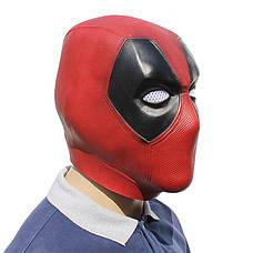 Резиновая маска Дэдпул Латекс Хеллоуин Косплэй DeadPool дед пул, фото 2