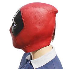 Резиновая маска Дэдпул Латекс Хеллоуин Косплэй DeadPool дед пул, фото 3