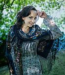 Русские сезоны 948-14, павлопосадский платок (шаль) из уплотненной шерсти с шелковой вязанной бахромой, фото 3