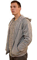 Кофта спортивная мужская на меху с капюшоном Blue Jeans, фото 2