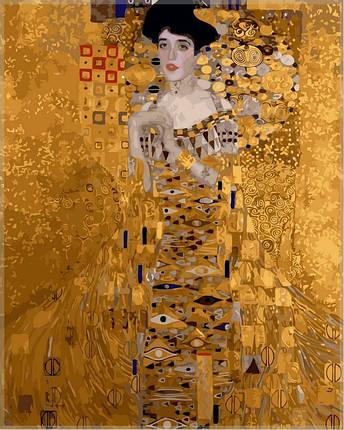 Набор-раскраска по номерам Золотая Адель худ Климт Густав , фото 2