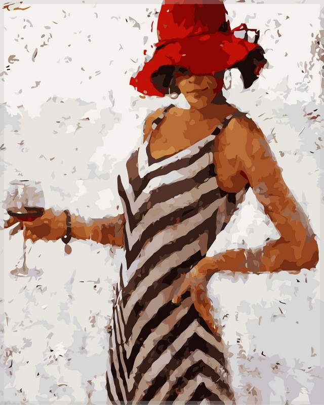 Набор-раскраска по номерам Рапсодия винтажного бордо худ Кон Андрэ