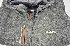 Кофта спортивная мужская на меху с капюшоном Blue Jeans, фото 3