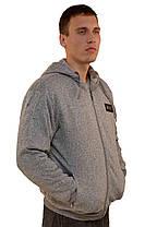 Кофта спортивная мужская на меху с капюшоном  Bikke sport, фото 2