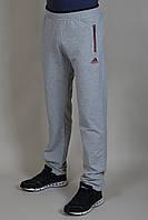 Мужские спортивные штаны Adidas на манжете 9350 светло-серый