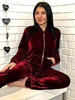 Вишневый костюм женский кофта и штаны