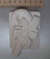 Гипсовая фигурка заготовка для раскрашивания. Гіпсова фігурка для розмальовування. Карамельная трость. Тростин