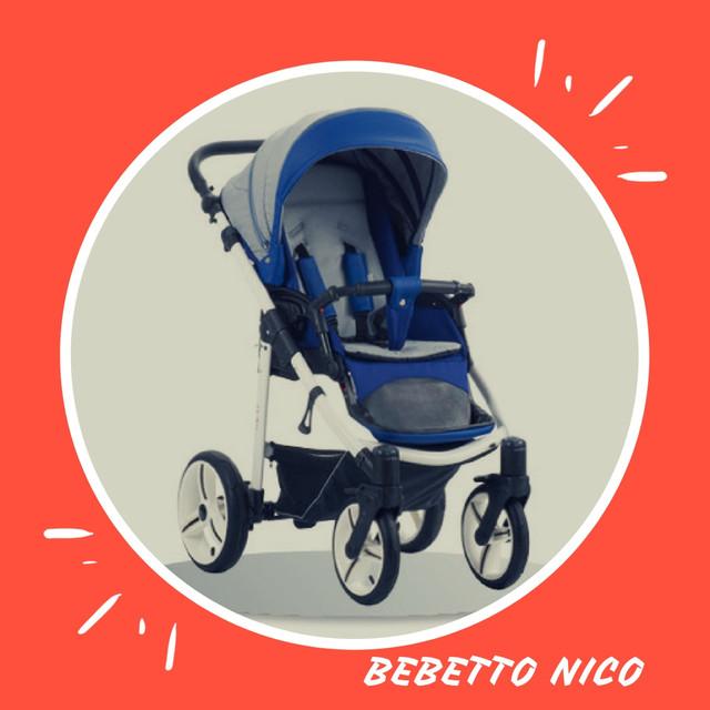 всесезонная прогулочная коляска бебетто