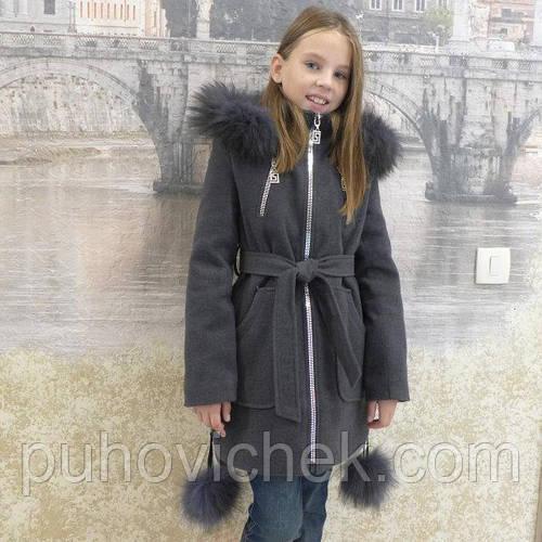 Зимнее пальто для девочки подростка модное