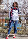День Победы 235-14, павлопосадский платок (шаль) из уплотненной шерсти с шелковой вязанной бахромой, фото 10