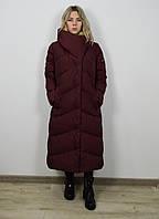 Бордовое пальто женское в категории пуховики женские в Украине ... 71ab35dbfd5