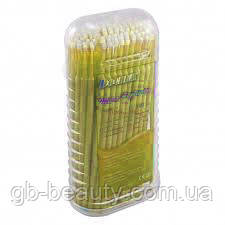 Микробраши для ресниц Dochem 1,5 мм 100 шт (цвет желтый)