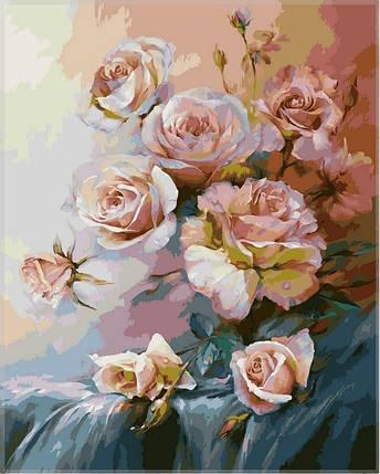 Набор-раскраска по номерам  Розовое утро худ Романов Роман , фото 2