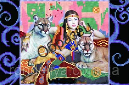 Схема для вышивки бисером «Госпожа львиц»