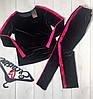 Стильный спортивный костюм из мраморного велюра: кофта и штаны с лампасами, фото 2