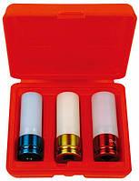 """Набор головок 1/2"""" c пластмассовой вставкой (17/ 19 /21 мм) 3 предмета AmPro T75793 (Тайвань)"""
