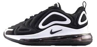 Мужские кроссовки Nike Air Max 720 Black White (найк аир макс 720, черные/белые)