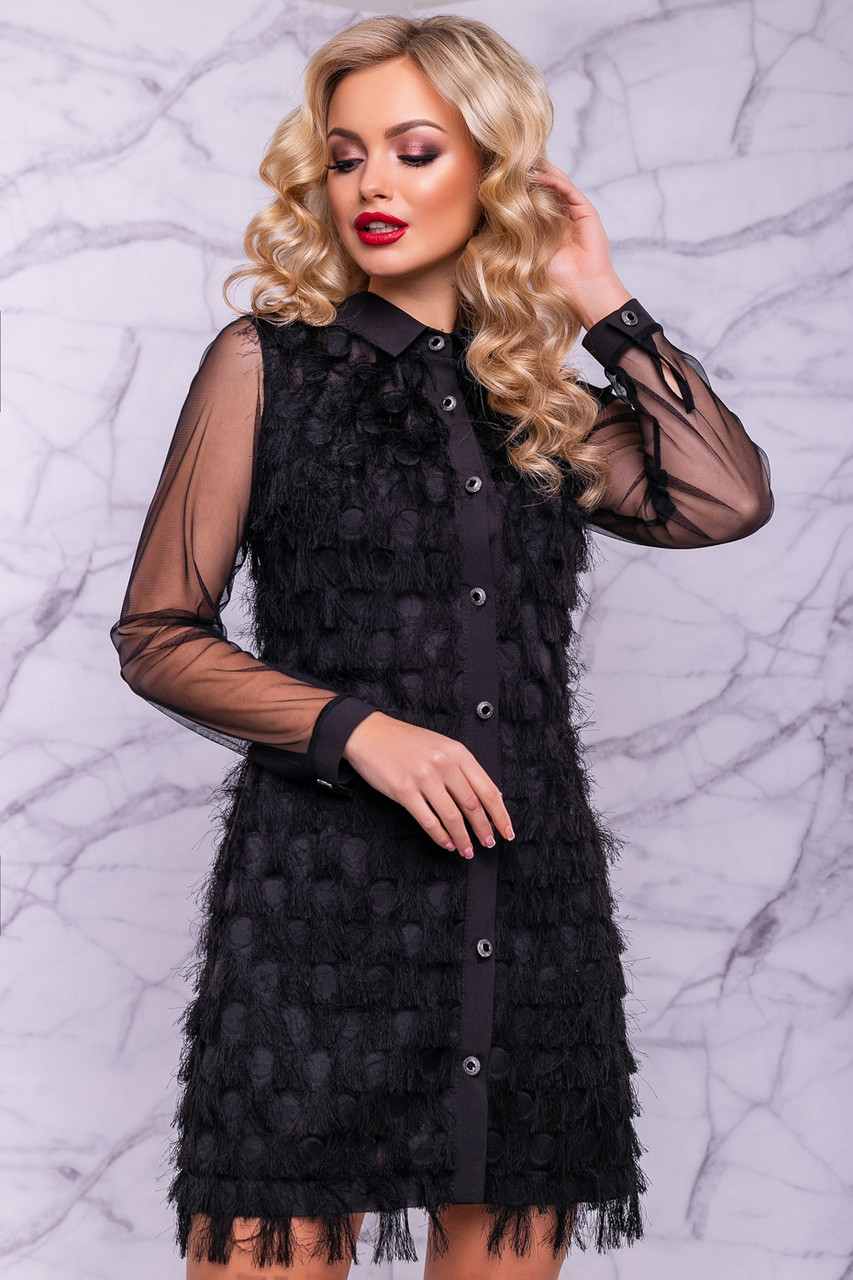 ec5a93dab57 Нарядное платье из креп-шифона на пуговицах  продажа