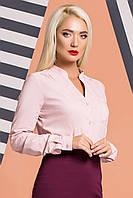 Пудровая блузка на стойке, фото 1