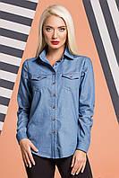 Джинсовая рубашка с 2-мя карманами, фото 1