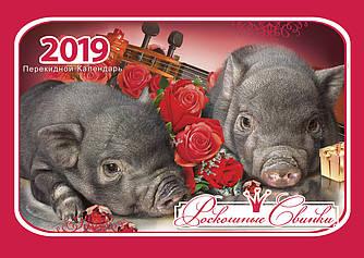 """Календарь настенный на 2019 г. """"Роскошные свинки"""""""