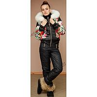 Женский термокомплект MONCLER, куртка+полукомбез