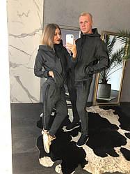 """Тёплый костюм мужской и женский """"HYPE"""". Ткань : замш на велюре . Размер: C , M. (21154)"""