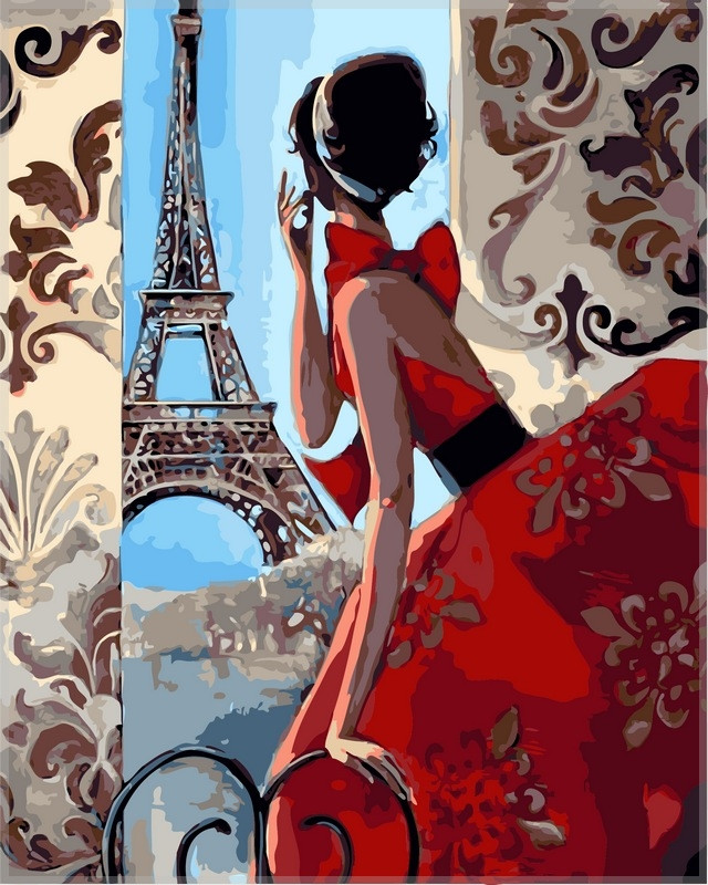Набор-раскраска по номерам  Утро в Париже Худ Биддл Триш